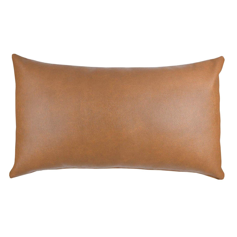 Decoratieve Lumbale Sierkussen Cover Alleen Voor Bank, Sofa, Of Bed Moderne Kwaliteit Ontwerp 100% Faux Lederen Milo Lumbale (12 Inchx20 Helder En Doorschijnend Qua Uiterlijk