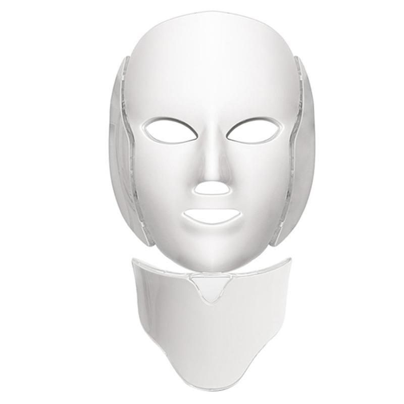 7 Colors Photon Electric LED Facial Mask Skin Rejuvenation Massage Facial Massage Anti Acne Wrinkle Beauty Treatment (EU) 7 colors photon electric led facial mask beauty therapy skin rejuvenation massage anti acne wrinkle facial massage