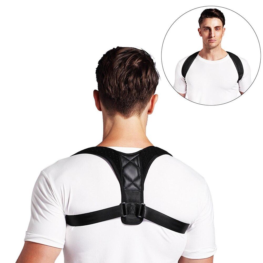 Ajustable apoyo cinturón Corrector de postura de la clavícula de la columna de espalda Lumbar postura Corrección