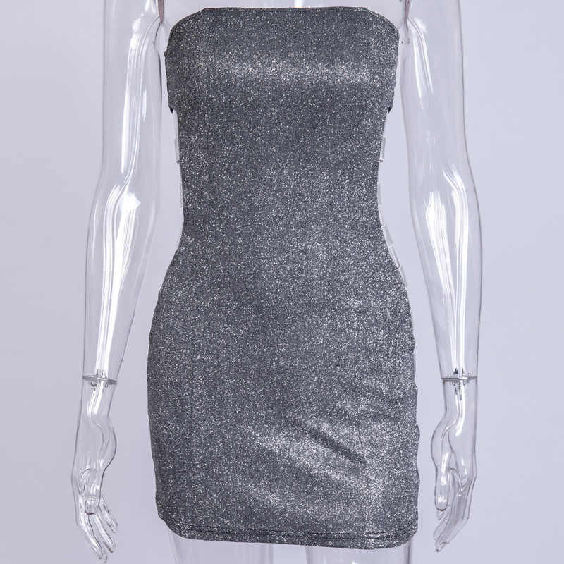 a17a978c13 ... Tobinoone 2019 New Sexy Off Shoulder Sequin Dress Women Party Mini Dress  Elegant Hollow Out Sleeveless ...
