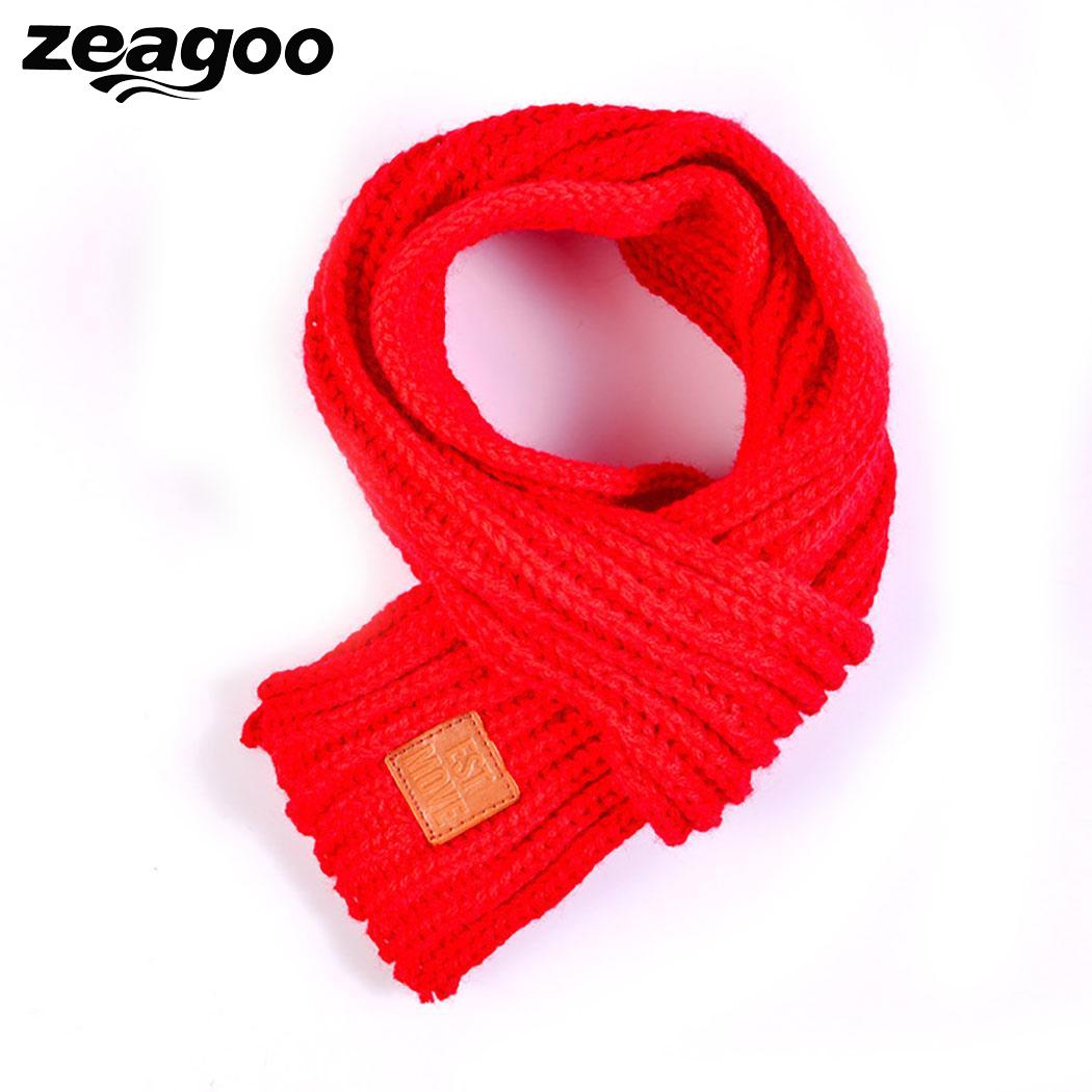 Handmade Kids Boys Girls Winter Scarf Kids Pompom Baby Scarf Warm Neck Warmer Scarves Knitting Wool Neck Warmer,echarpe Foulard Sale Price Girl's Scarves