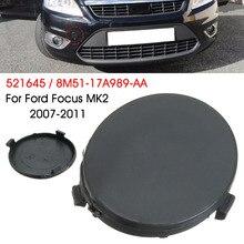 Автомобильный Черный передний бампер буксировочный крюк крышка Крышка для FORD для FOCUS MK2 для C-Max 2007-2011 8M5117A989AA