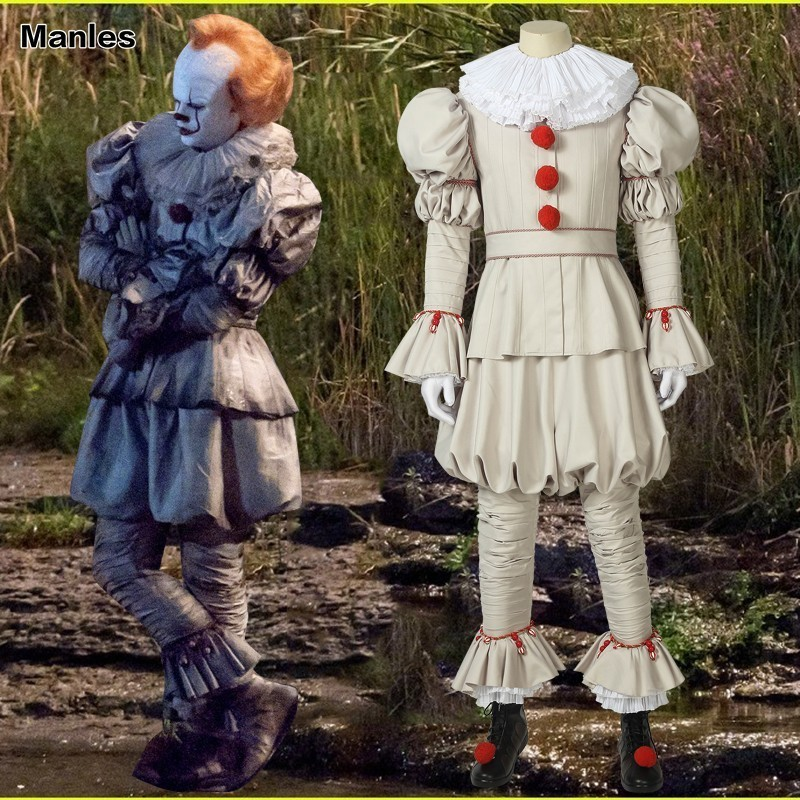 Movie It Chapter Two Stephen King's It Costume Pennywise The Dancing Clown Cosplay Carnival Adult Halloween Party Horror Custom