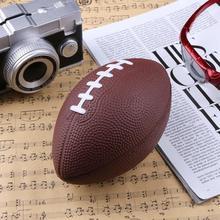 Мини-мягкий полиуретановый пенополиуретан коричневый антистрессовый футбольный мяч для регби на день рождения Рождественский подарок 180x110x110 мм