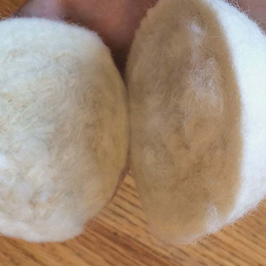 Шарики для сушки шерсти 6-Pack, XL Премиум многоразовый натуральный умягчитель ткани