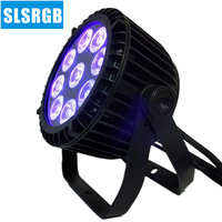 8pcs/lot led par 6 in 1 RGBWA+UV 9*18W DMX 512 outdoor led flat par IP 65 Par Light LED Slim Par DJ Effect Light
