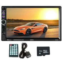 2 din Автомобильный мультимедийный плеер gps навигации с картой 7-дюймовый HD Сенсорный экран Bluetooth Радио MP3 MP5 плеер 7018G радио