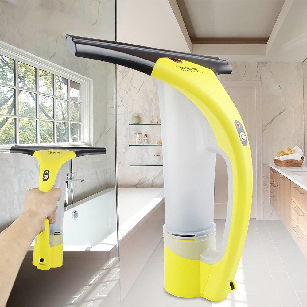Nettoyeur de raclette de fenêtre Rechargeable sans fil pour vitre miroir carrelage brosse de nettoyage magnétique outil de nettoyage ménager