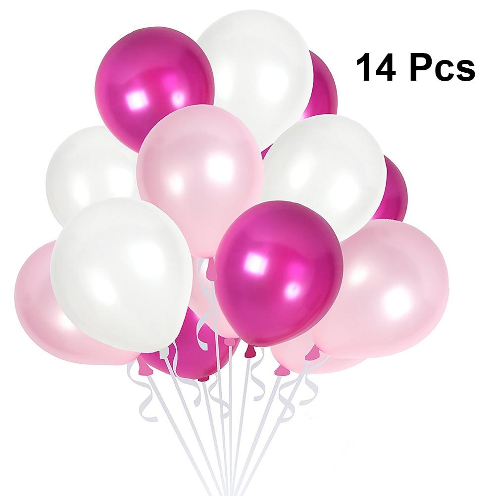 "5 x Pink /& Lilac Fairy Balloons 12/"" Latex  Birthday"