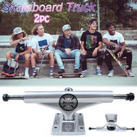 High Quality 2 Pcs 5.5inch Adult Skateboard Truck INDEPENDENT Skateboard 139 Truck Aluminum Magnesium Alloy Truck Bracket Parts