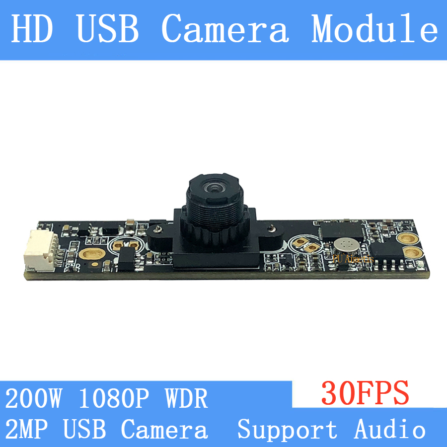 Industrial CCTV Surveillance camera WDR 2MP Full HD 1920*1080P Webcam Windows UVC Linux 30FPS USB Camera Module with Microphone Industrial CCTV Surveillance camera WDR 2MP Full HD 1920*1080P Webcam Windows UVC Linux 30FPS USB Camera Module with Microphone