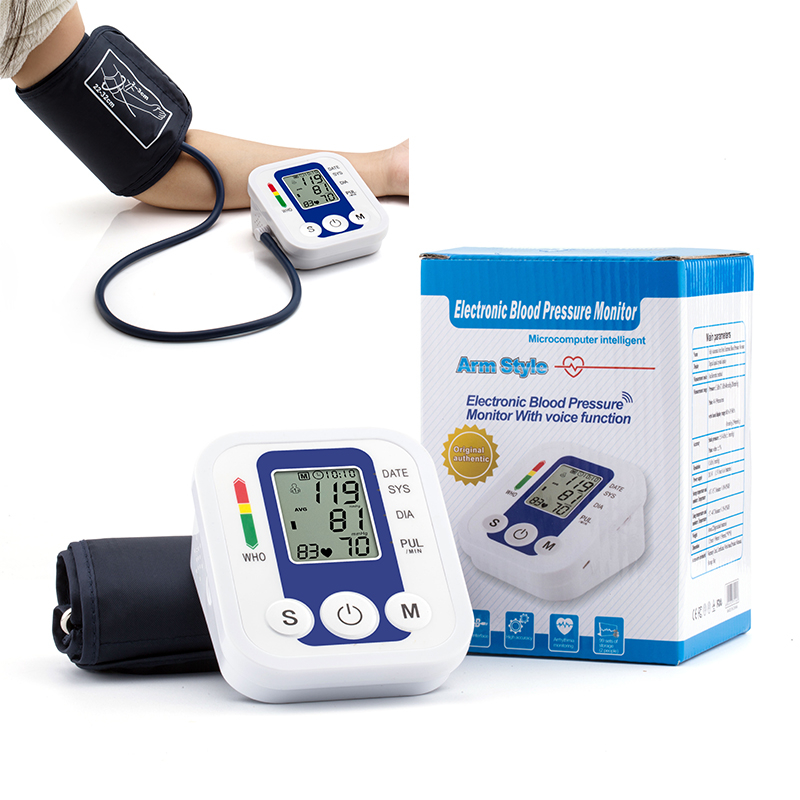 Household Arm Fully Automatic Precision Medicine Electronic Blood Pressure Monitor Jzk-B02 Voice