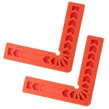Règle de serrage à Angle droit carrée | 2 pièces 90 Deg, règle de serrage à Angle droit en forme de L plastique 3''