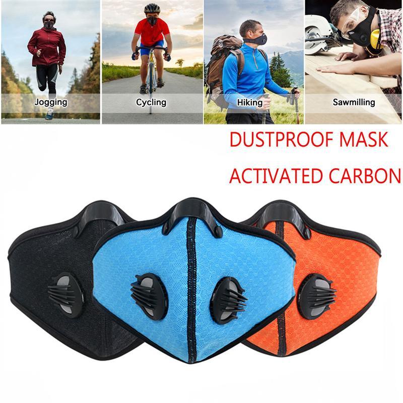 Bueno Máscara De Carbón A Prueba De Polvo Filtro Extra Hoja De Algodón Y Válvulas Para Gas De Escape Para Correr Máscara De Ciclismo Puede Ser Repetidamente Remoldeado.
