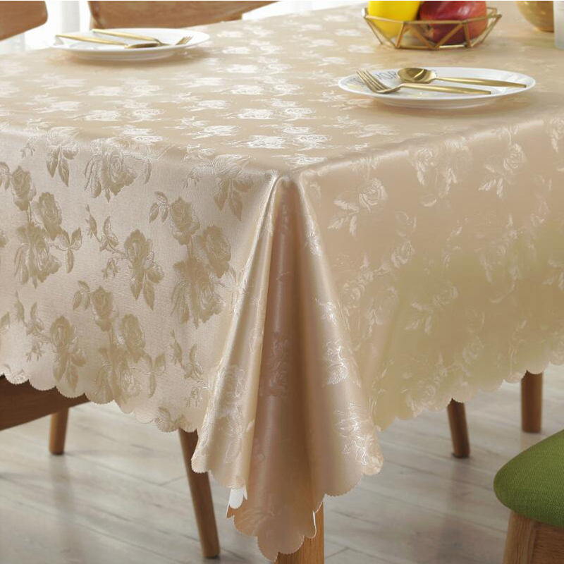 Christmas Square Tablecloth Flower Pu Leather Europe Desk Cloth Home Kitchen Table Cloths Waterproof Oilproof Hotel Table Cover in Tablecloths from Home Garden