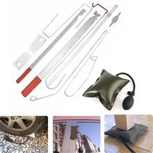 1 компл. Универсальный Автомобильный ключ для двери Lost Lock Out аварийный открытый разблокировочный набор инструментов+ воздушный насос