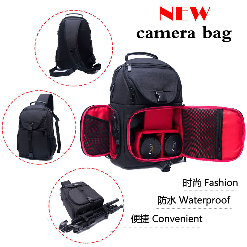 Photo Camera Oxford Sling Bag Shoulder Cross Digital Case Waterproof Rain Cover Soft Men Women Bag For Canon Nikon Sony Dslr