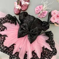 La Princesa chico vestido de bebé para las niñas de encaje de boda Formal desfile vestido de fiesta dama de honor de tul vestido de la ropa de los niños