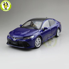 1/18 Toyota Camry 2018 8th generation hybrid Diecast Car Model Toys for kids Children Birthday Gift Collection Blue(China)