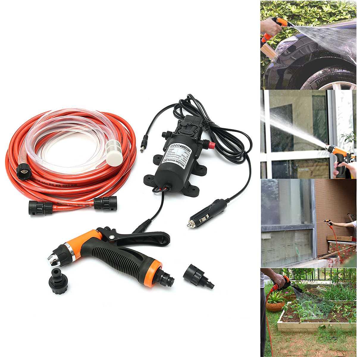 6 pièces/ensemble 12 V 100 W haute pression auto-amorçante voiture électrique Portable lave-linge lavage pompe à eau
