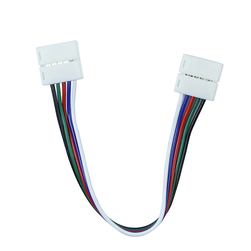 CLAITE 10mm RGBW PCB Connector 5 Pin Core Wire Cable For LED Strip No Need Soldering Suit For RGBW LED Strip Connecting