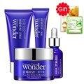 BIOAQUA Blueberry Wonder Face Care Set Moisturizing Eye Cream Face Serum Liquid Facial Cleanser + Lip Balm Face Mask 2 Gifts