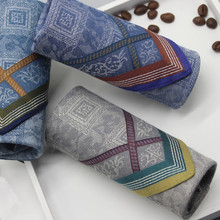 цена Charm Men Square Pocket Stripe Handkerchief 40CM Classic Vintage Hanky Cotton Tea Towel Cloth Table Wedding Napkin Theedoek онлайн в 2017 году