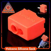 Trianglelab alta qualidade cartucho calefator bock silicone meias vulcão para vulcão aquecido bloco para vulcão hotend bico