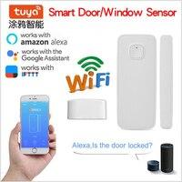 Smart WIFI Door Sensor,App Window Door open detector Security Alarm Magnetic Switch work with Google Home Alexa Tuya Smart Life