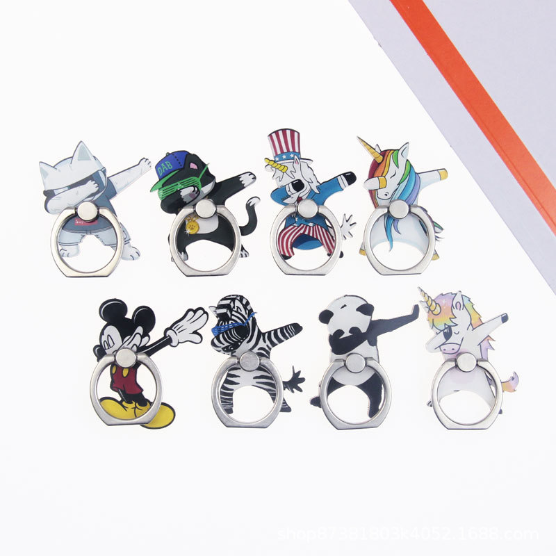 Brilliant 5pcs/lot Wholesale Universal Finger Ring Mobile Phone Ring Holder Stand Unicorn Mickey Zebra Panda For Xiaomi Redmi 7 Redmi7 Mobile Phone Holders & Stands