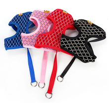 Breathable, multicolor padded yorkie harness