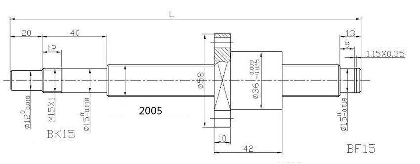 ộ_ộ ༽SBR mm lineari della guida SFU millimetri vite sfere
