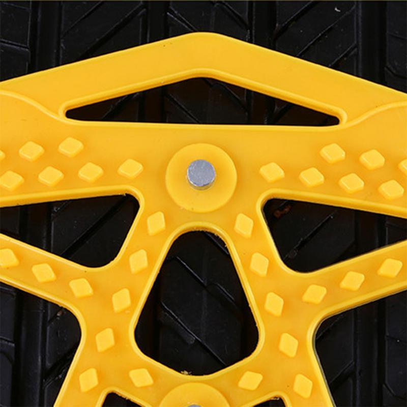 Nouveau 6 pièces voiture anti-dérapant chaîne épaississement élargi chaînes de pneus neige Chai avec gants clé fou Shopping jour en dessous du prix de revient - 6