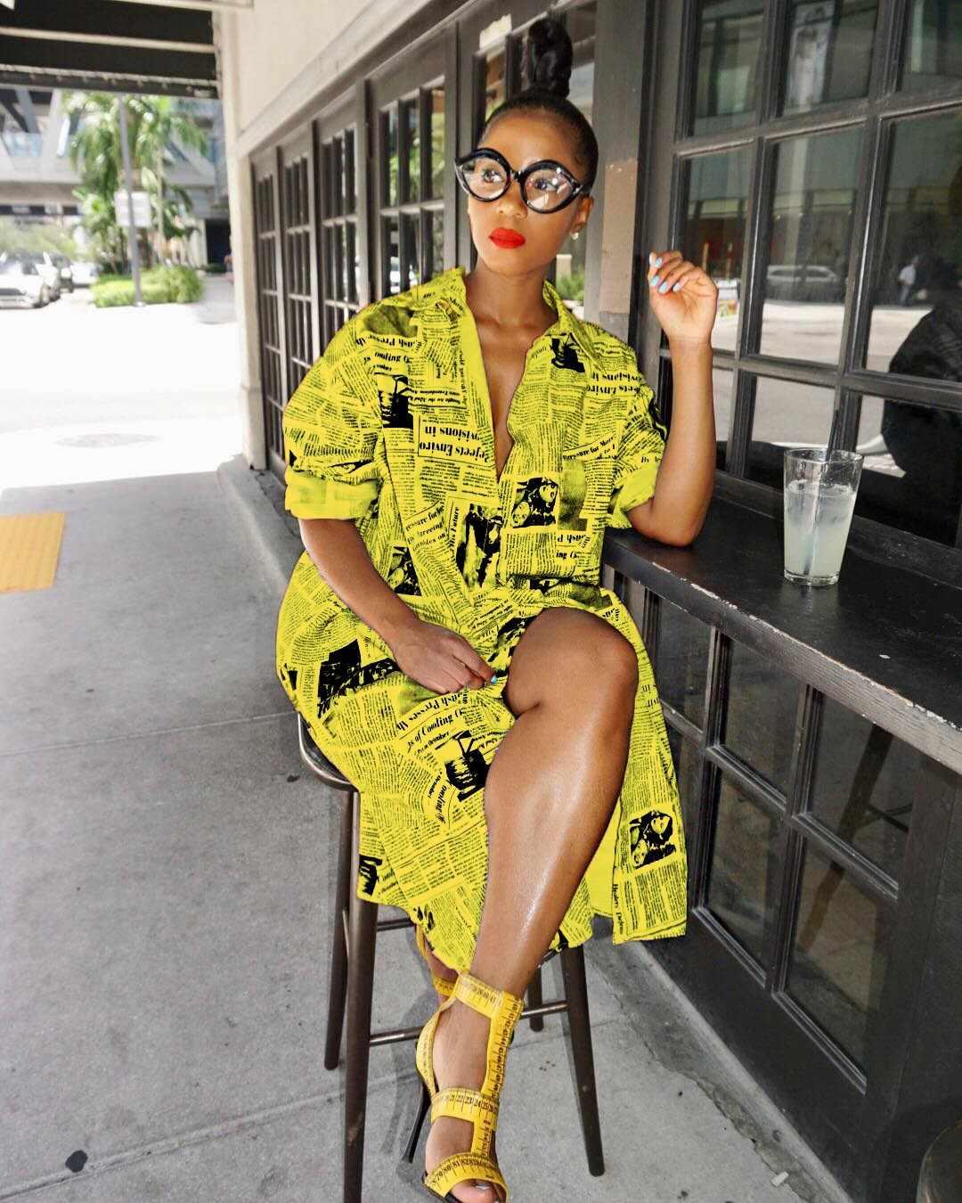 8c4647d0c32f57 Detail Feedback Questions about Women Fashion Newspaper Letter Print Shirt  Dress Casual Button Midi Dress Loose Autumn Blouse Kimono Bikini Cardigan  ...