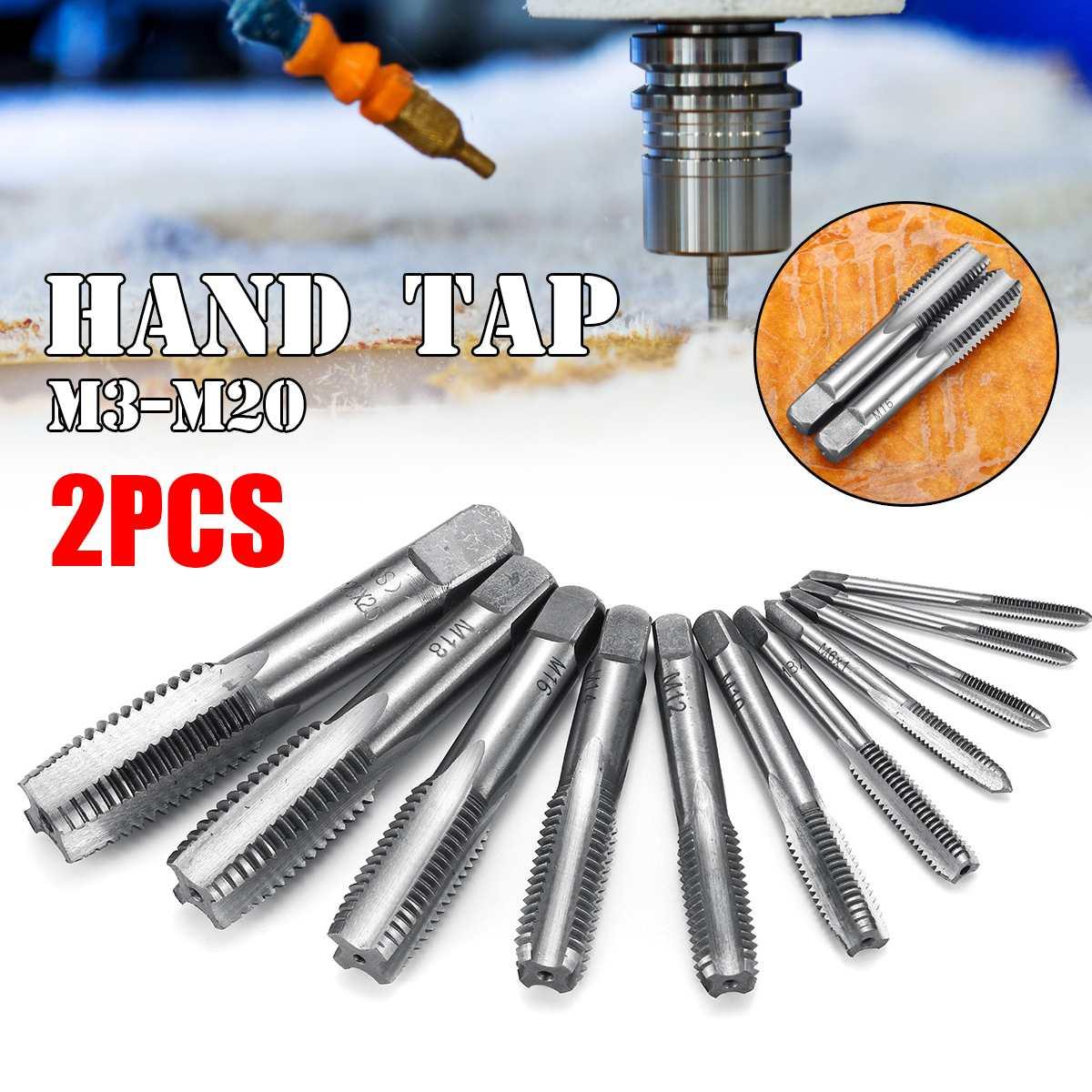 M3 M4 M5 M6 M8 M10 M12 M14 M16 M18 M20 Machine Straight Fluted Screw Thread Metric Plug Hand Tap Drill Set Hand Tools