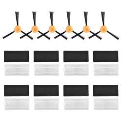 Новые горячие запасные части, совместимые с Ecovacs Deebot N79 N79S Роботизированный пылесос, аксессуары-8 компл. фильтров + 6 боковых кистей