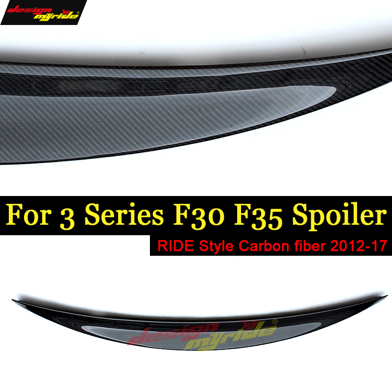 F30 F35 Tail Rear Spoiler Wing Ride style Carbon fiber For F30 F35 318i 320i 323i 325i 328i 330i Rear Spoiler Wing tail 2012-17F30 F35 Tail Rear Spoiler Wing Ride style Carbon fiber For F30 F35 318i 320i 323i 325i 328i 330i Rear Spoiler Wing tail 2012-17