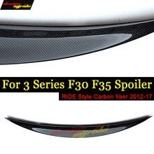 F30 F35 Tail Rear Spoiler Wing Ride style Carbon fiber For 318i 320i 323i 325i 328i 330i tail 2012-17