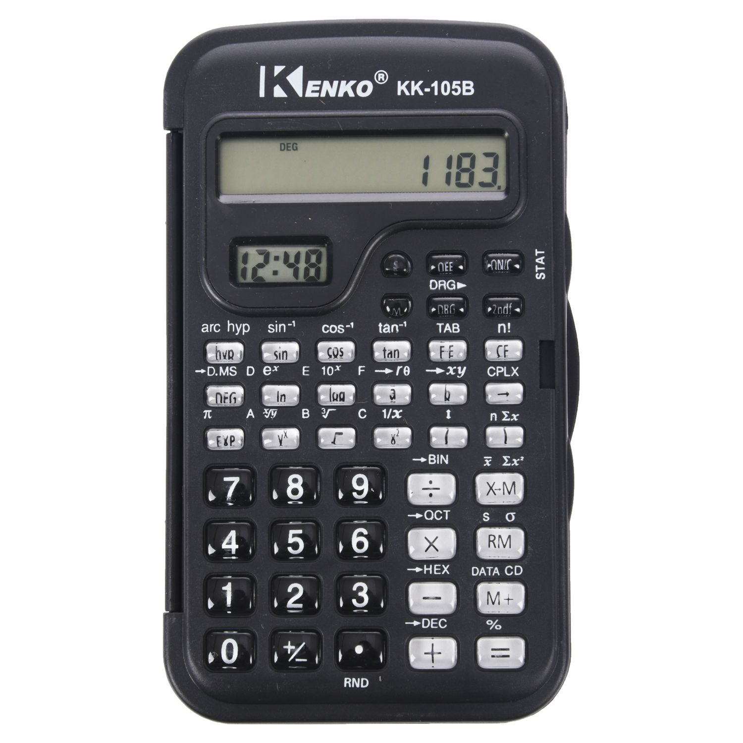 KENKO Student Electronic 10 Digits Scientific Calculator Calculator With Clock