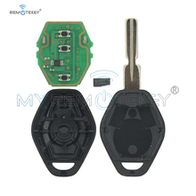 Remtekey Replacement Remote Control Key 3 Buttons EWS System 434MHZ PCF7935 ID44 Chip HU58 For BMW 3 5 7 Series E38 E39 E46 key jingyuqin hu58 4 buttons remote key case for bmw e38 e39 e46 ews system ask 433mhz 315mhz with pcf7935aa id44 chip uncut blade