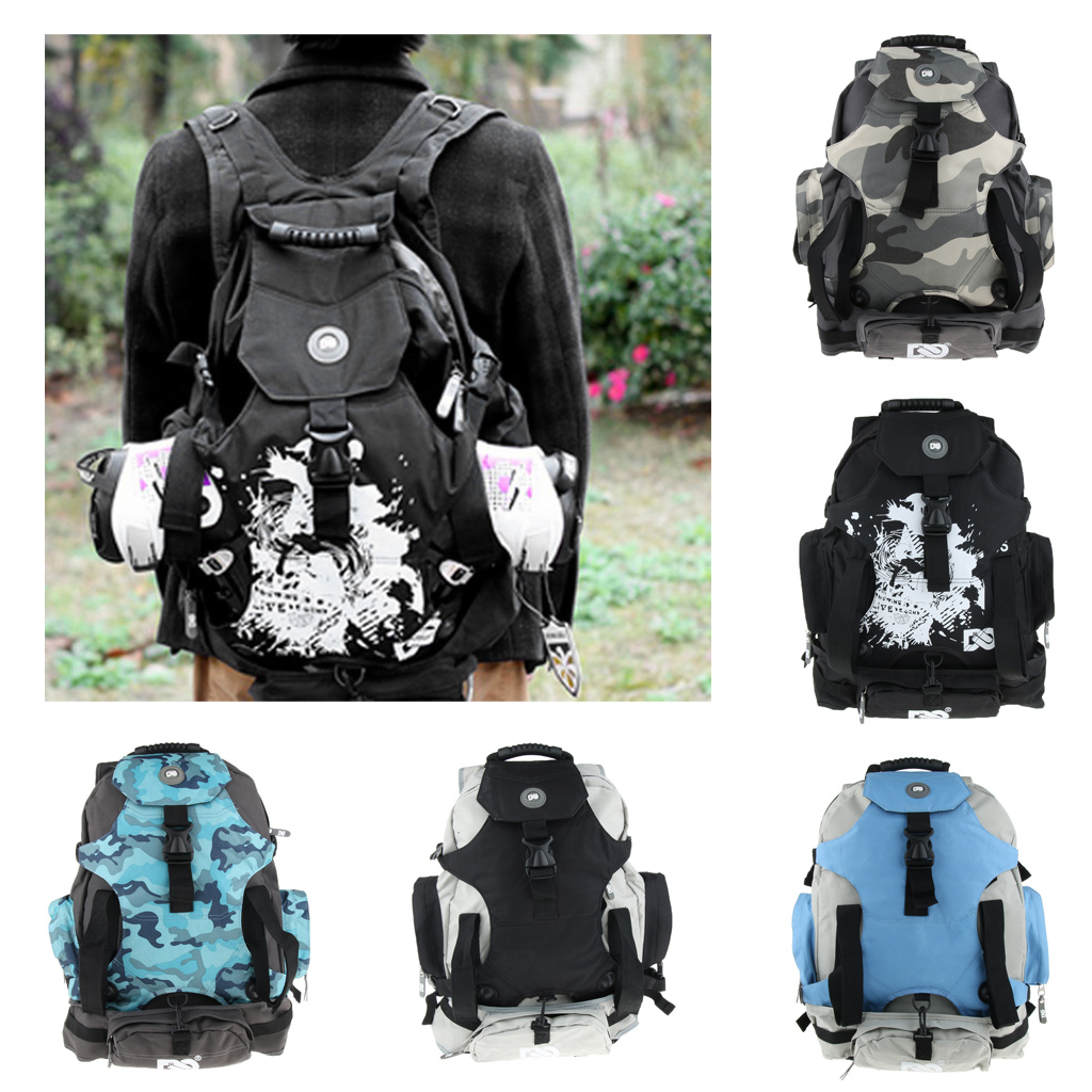 Quad Skate Roller Bag Backpack Skatepack Outdoor Skates Carrying Shoulder For Youth Adults Skating