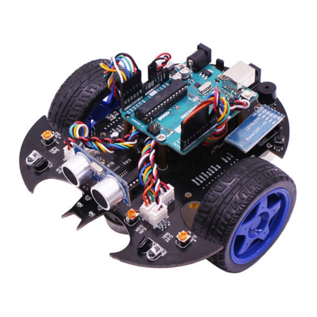 Kit de vapeur modèle de démarreur de voiture Robot intelligent Bat avec tutoriel jouet de tige électronique éducatif pour Arduino comprend carte mère R3
