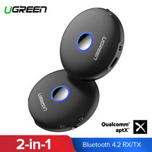 Ugreen Bluetooth 4,2 transmisor Receptor aptx Adaptador de Audio jack de 3,5mm para TV auriculares PC Receptor AUX Bluetooth 3,5mm(China)