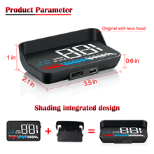 2019 New M7 HUD OBD+GPS Dual System Universal For All Cars Speedometer Windshield Projector With Lens Hood KM/H MPH