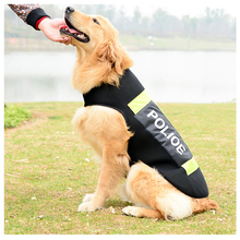 New Large Dogs Wear Uniforms Pet Police Uniform Reflective Vest Dog Clothes Tactical Summer Tshirt