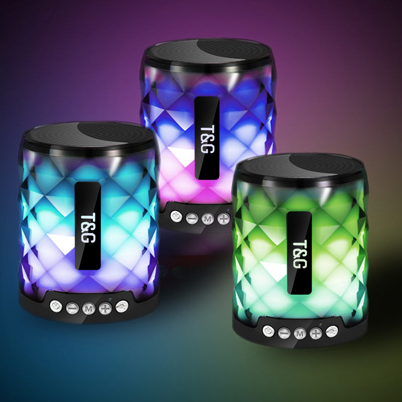 hanxi portable wireless bluetooth speaker with subwoofer bass loudspeaker tf card and fm