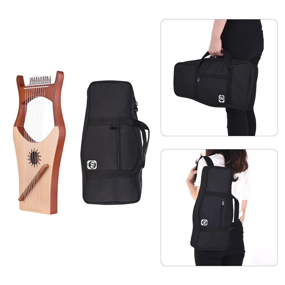 10 String деревянные Lyre harp металлические струны клен дерево Topboard красное дерево Backboard струнный инструмент с сумкой для переноски WH 11 - 6