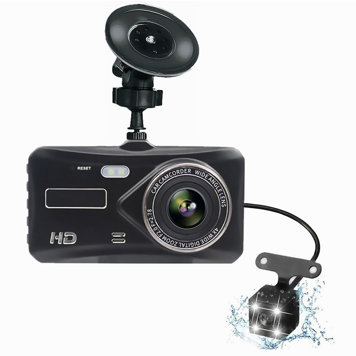 Dashboard Camera Recorder Driving Parking-Monitor Vehicle G-Sensor Dual-Lens 170-Degree