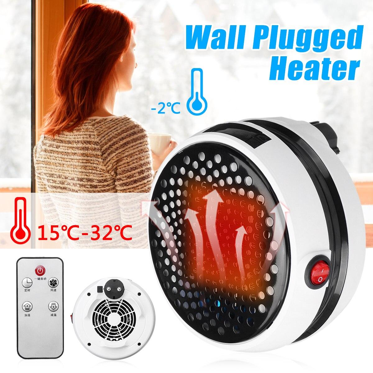 1000W Electric Heater Mini Fan Heater Desktop Household Wall Handy Heating Stove Radiator Warmer Machine for Winter