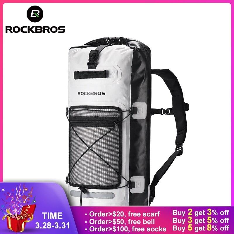 ROCKBROS непромокаемые велосипед велосипедный спорт сумки большой емкости Велоспорт сумка складная открытый хранения посылка Паньер водо